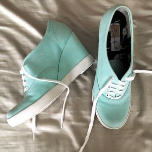 Mint green heels with laces